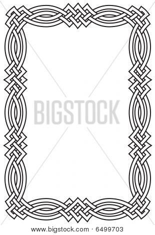 Celtic Knot Scrollwork Border