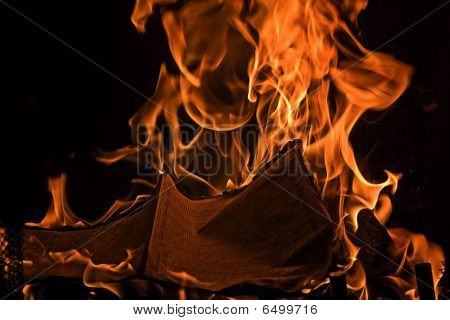 Book Burning Red Fire Flames Of Hell