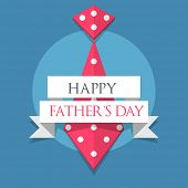 Creative poster, banner or flyer design with necktie and stylish text Happy Father's Day  on blue background. poster