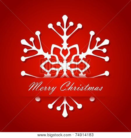 Christmas. Holiday New Year card white snowflakes