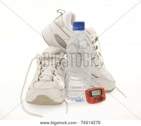 Women's Fitness Shoes With Water Bottle And Pedometer