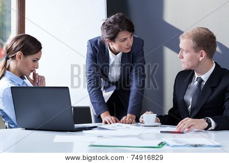 Angry Female Manager