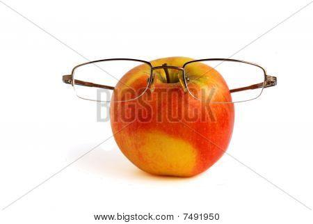 Apple in glasses
