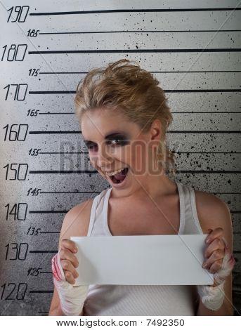 Girl Wink In Prison