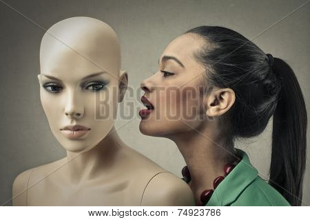 Whispering secrets to someone that cannot hear you