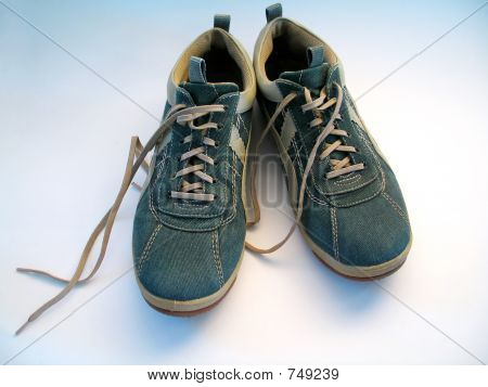 Denim Sneakers Untied