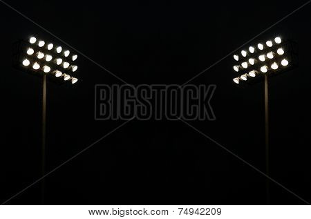 Twin Stadium Lights