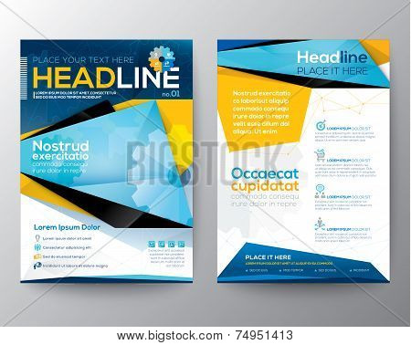 Abstract Triangle Design Vector Template Layout For Magazine Brochure Flyer Booklet Cover Annual Rep