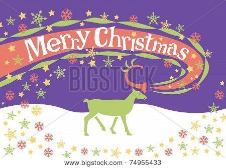 Christmas reindeer design in pastel.eps