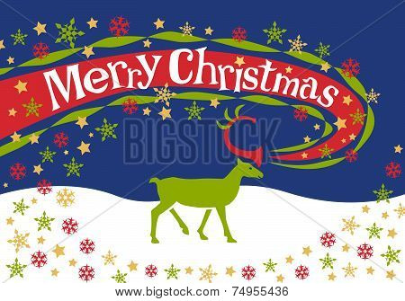 Merry Christmas reindeer design.eps