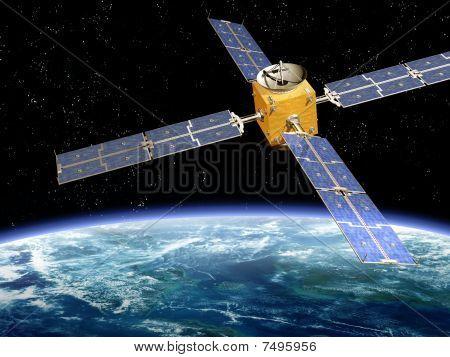 Orbiting Satellite
