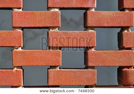Brick wall with gaps