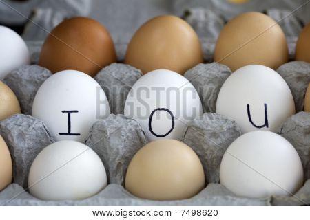 A conceptual image of IOU in the egg carton. poster