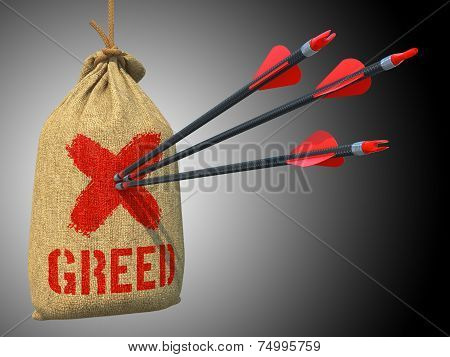 Greed - Arrows Hit in Red Target.