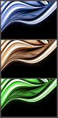 Wonderful set of abstract elegant background design poster