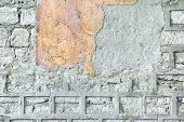 Wall with Damaged Plaster. Background and Texture for text or image. poster