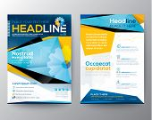 Abstract Triangle design vector template layout for magazine brochure flyer booklet cover annual report in A4 size poster