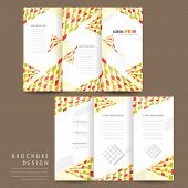 colorful modern mosaic style tri fold brochure template poster