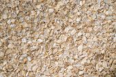 delicious food background of beige cereals closeup poster