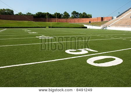 US-amerikanischer American-Football-Feld