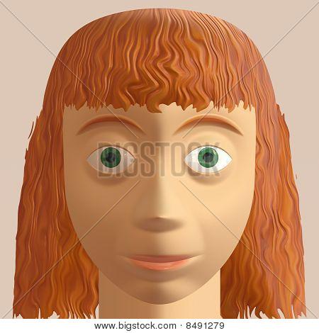Redhead Woman Avatar