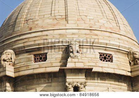 High section view of a government building, Rashtrapati Bhavan, New Delhi, India