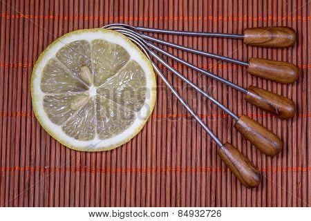 Lemon On Wicker