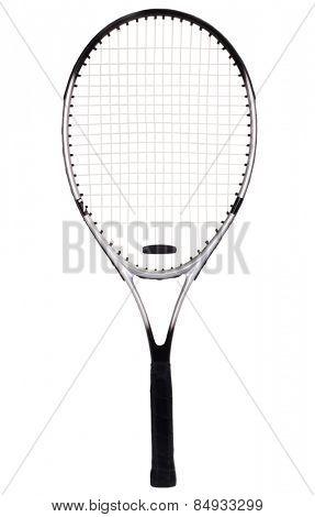 Close-up of a tennis racket