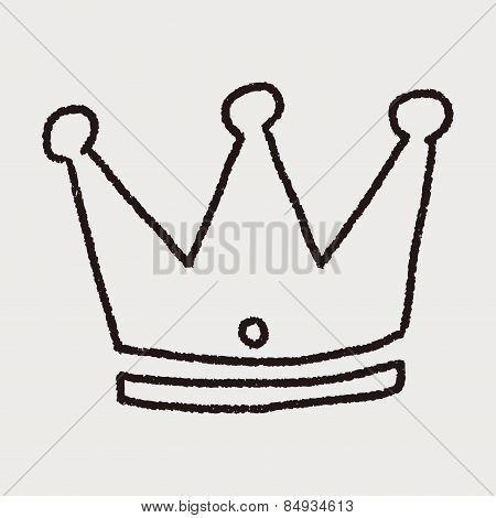 Doodle Imperial Crown, illustration vector eps , Children's crayon drawing stylen. poster