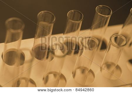 Close-up of test tubes