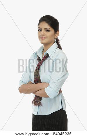 Portrait of a female flight attendant
