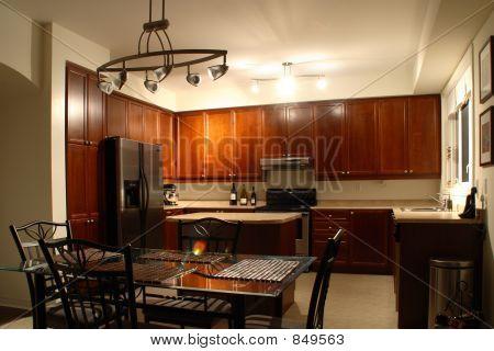 dinner in the kitchen