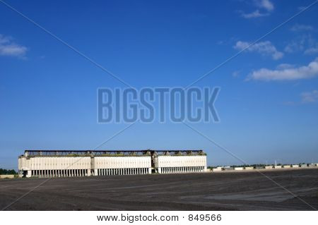 Phosphate Mine Buildings And Train Cars