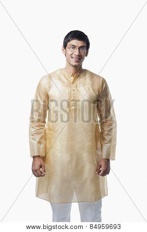 Bengali man smiling poster