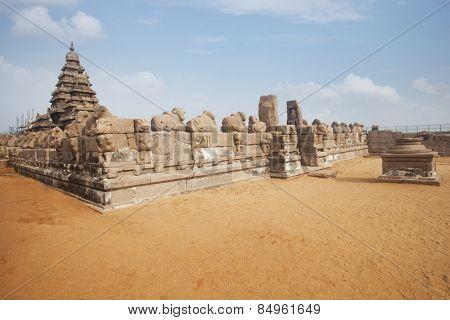 Ancient Shore Temple at Mahabalipuram, Kanchipuram District, Tamil Nadu, India