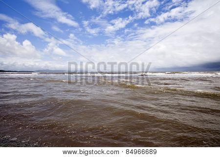 Clouds over the sea, Alibag, Raigad District, Konkan, Maharashtra, India poster