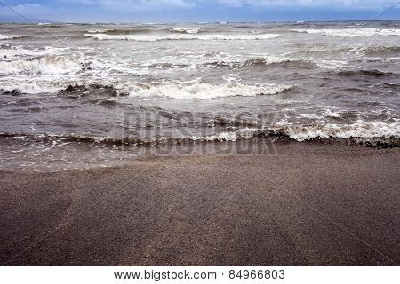 Waves in the sea, Alibag, Raigad District, Konkan, Maharashtra, India poster