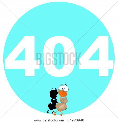 Illustrative representation of 404 error message with 007 Bond Duck