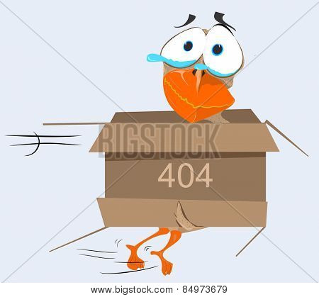 Illustrative representation of Quack Quack Quack with 404 error message