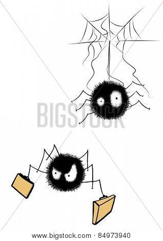 Illustrative representation of wandering spiders