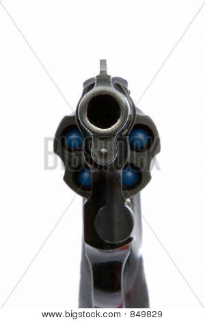 Pistol aiming at you