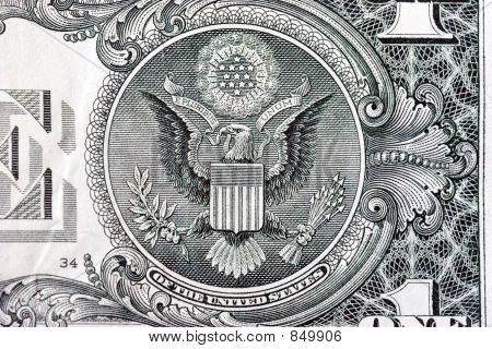 The Great Seal on back of one dollar bill