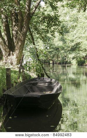 River Boat At Spreewald