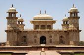 Facade of a mausoleum, Itmad-ud-Daulah's Tomb, Agra, Uttar Pradesh, India poster