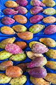 prickly pears cactus fruit, market in Forcalquier, Provence, France poster