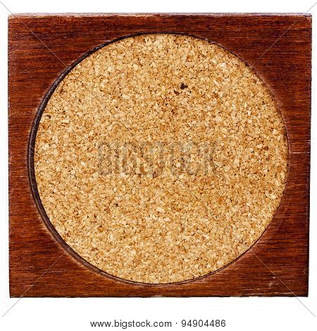 Old Wood And Cork Table Coaster