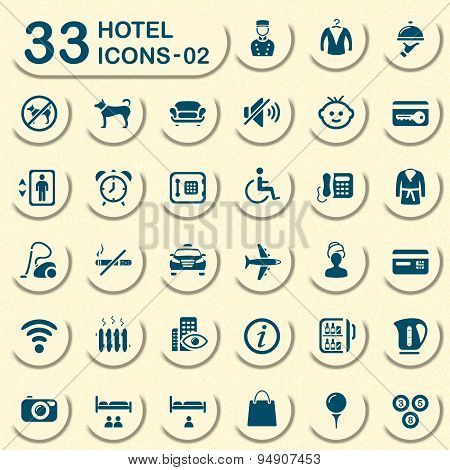 Jeans hotel and vacation icons