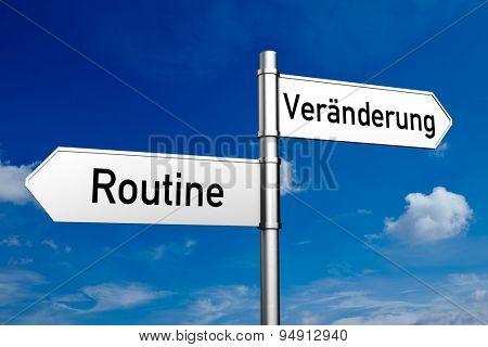 Decision between the German words