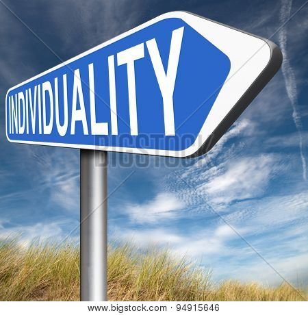 individuality stand out from crowd being different having a unique personality be one of a kind and unique personal development and existence