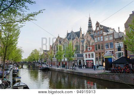Old Church (oude Kerk) In Amsterdam, Netherlands.
